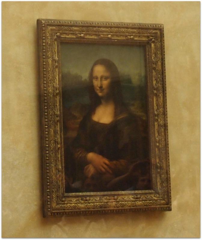 La Mona Lisa en el Museo del Louvre de París