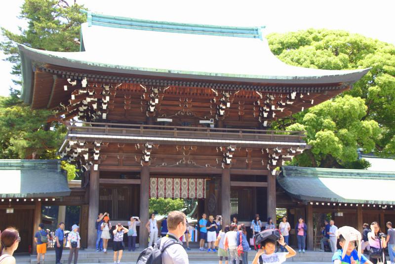 entrada del Santuario Meiji en Harajuku