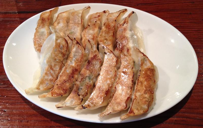 gyozas del restaurante de Harajuku