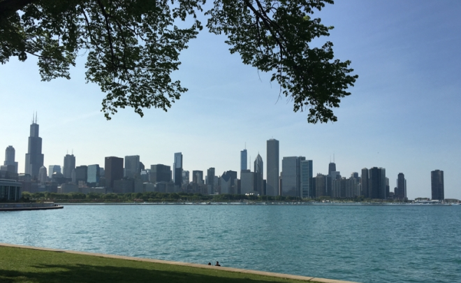 skyline de Chicago desde Museum Campus