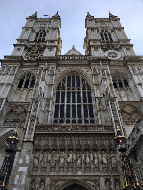 fachada de la Abadía de Westminster en Londres