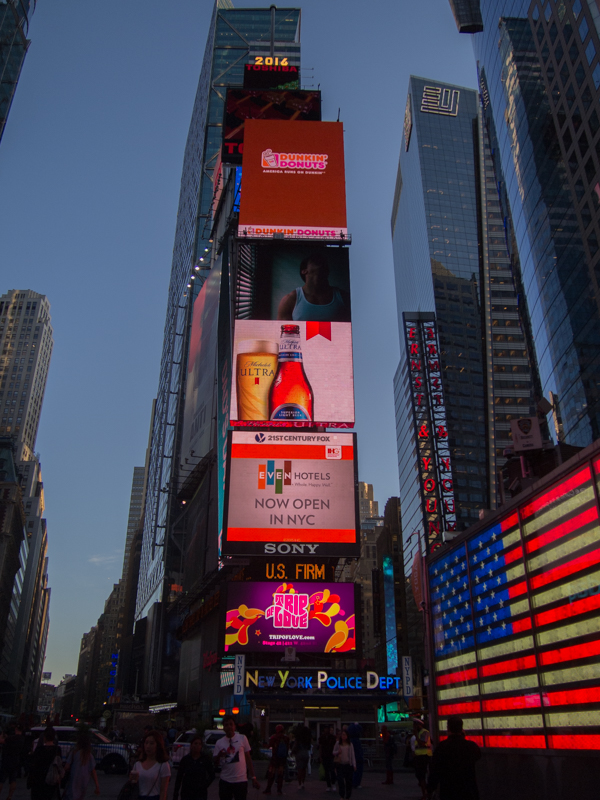 Times Square al atardecer 3