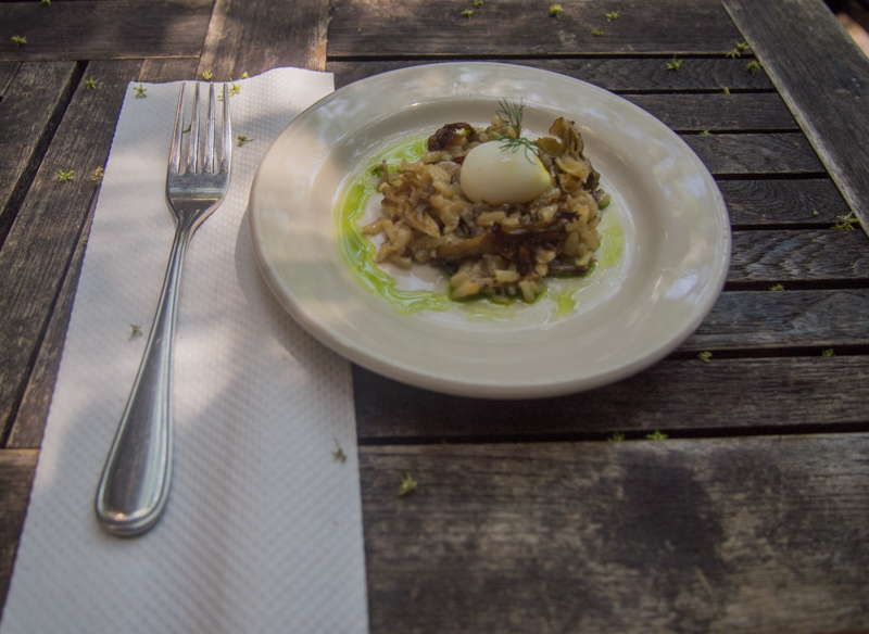 risotto del restaurante Home en Nueva York