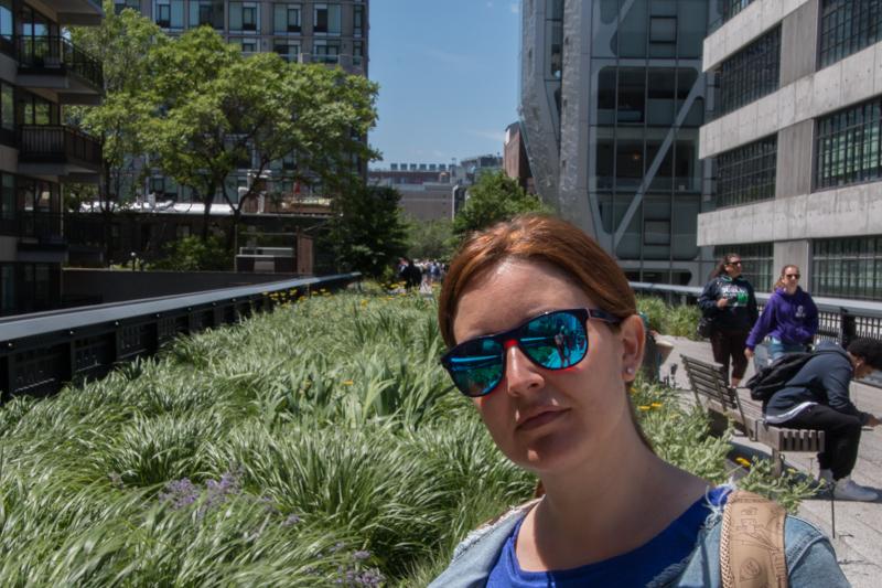 Lidia en el High Line de Nueva York