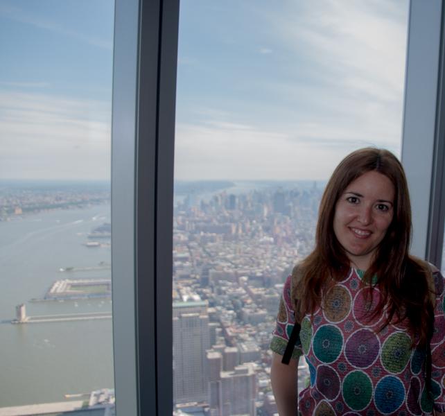 Lidia en el One Worl Observatory de Nueva York