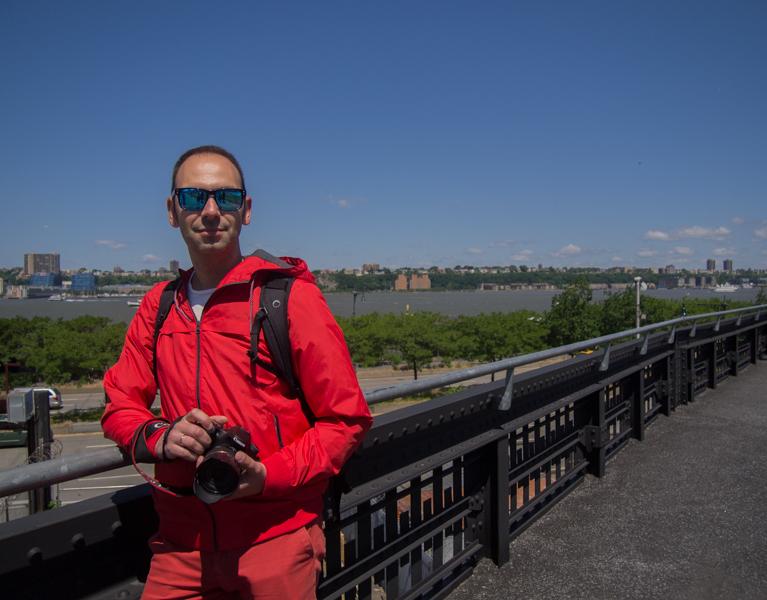 Sergio en el High Line de Nueva York