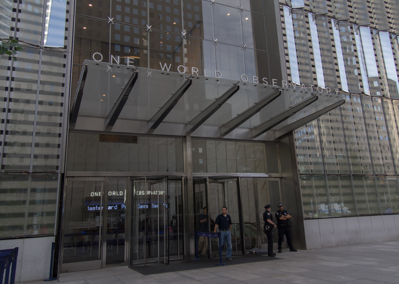 entrada al One World Observatory en Nueva York