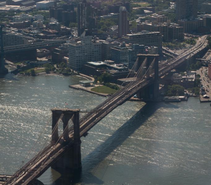 vista del Puente de Brookly desde el One World Observatory de Nueva York