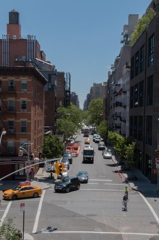 vista de calle de Nueva York desde el High Line