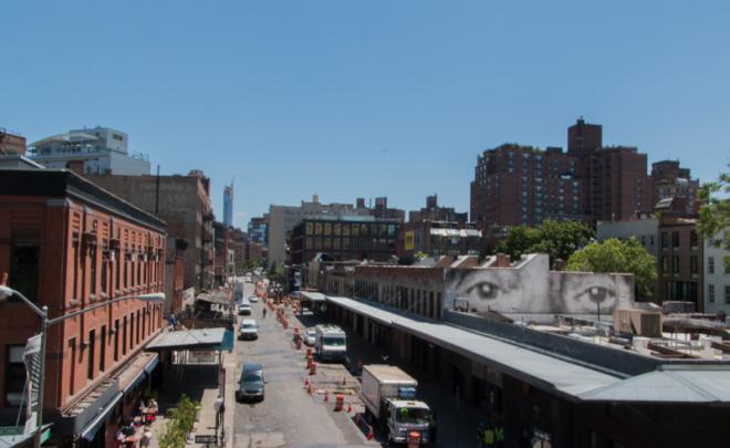 vistas de la calle desde el High Line de Nueva York 2