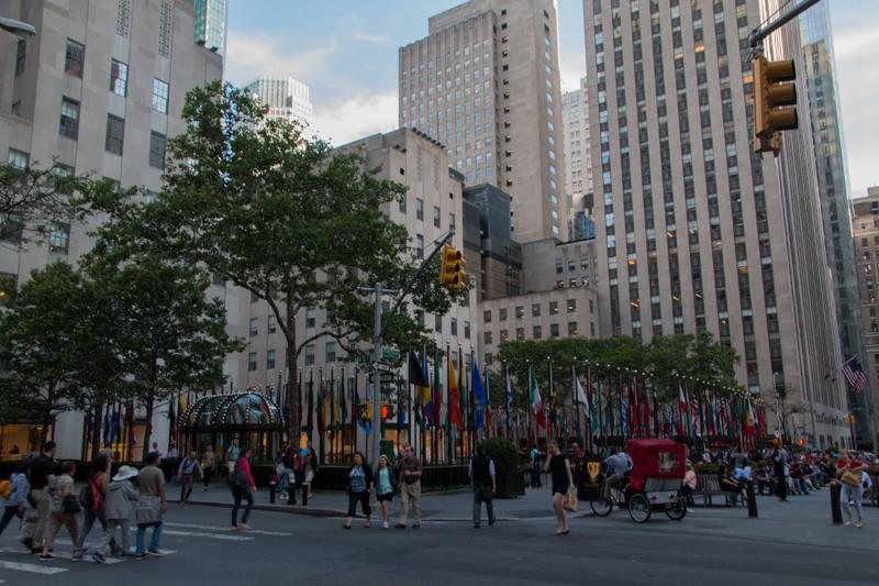 terraza en el Rockefeller Center de Nueva York