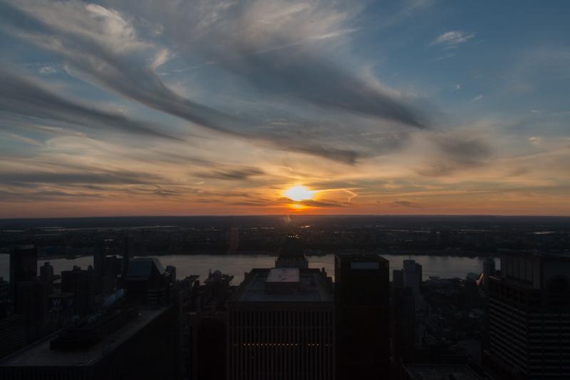 puesta de sol desde el TOR de Nueva York 1