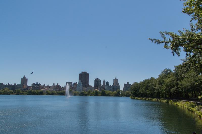 lago Jacqueline Kennedy Reservoir en Central Park de Nueva York 1