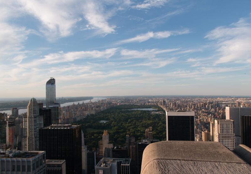 vistas de Central Park desde el TOR de Nueva York