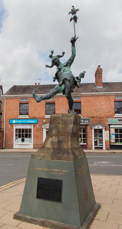 Jester Statue en Stratford-upon-Avon