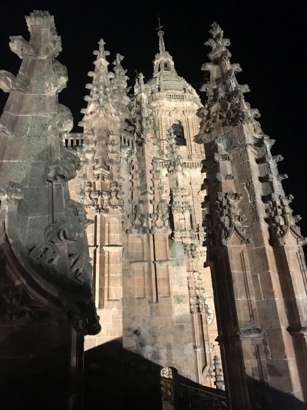 vistas nocturnas desde la terraza de la Catedral de Salamanca 4