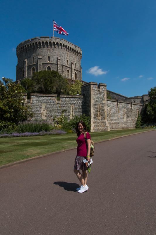 Lidia en el Castillo de Windsor