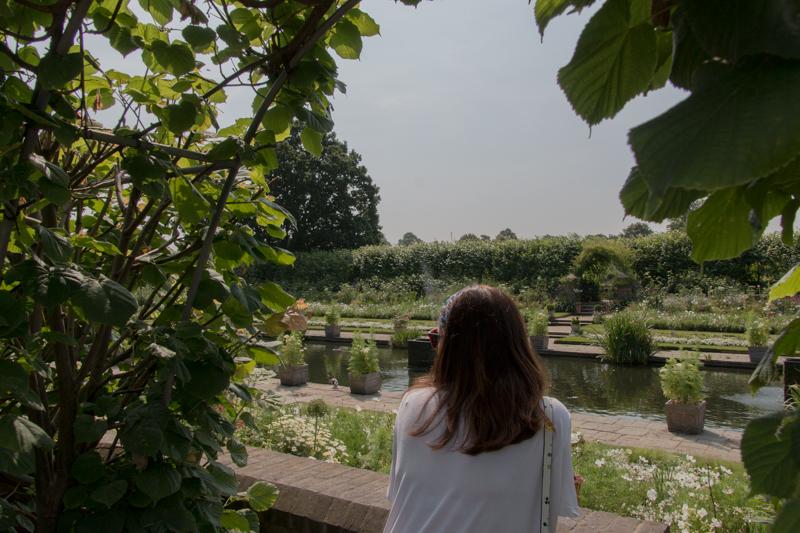 Lidia en el White Garden de Kensington Palace
