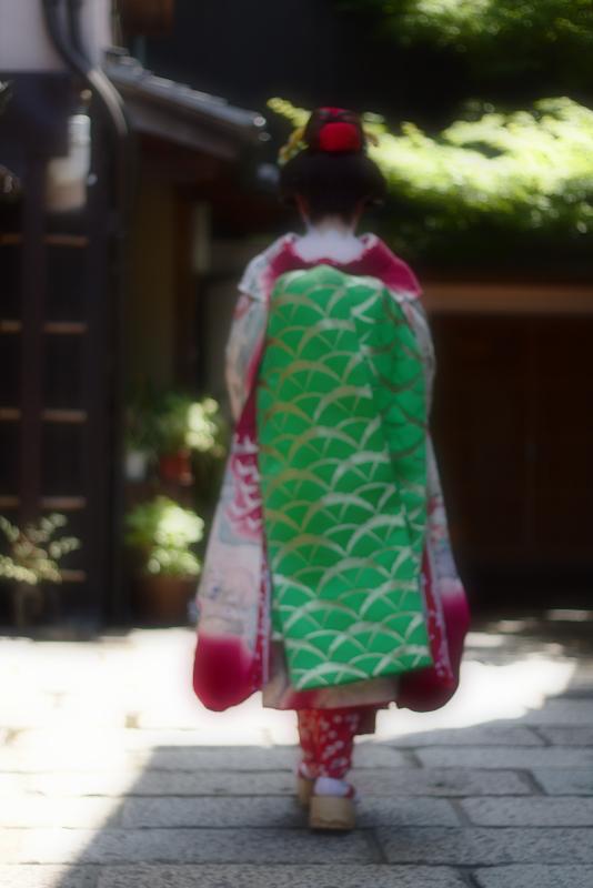 Lidia de maiko cuerpo entero por detrás