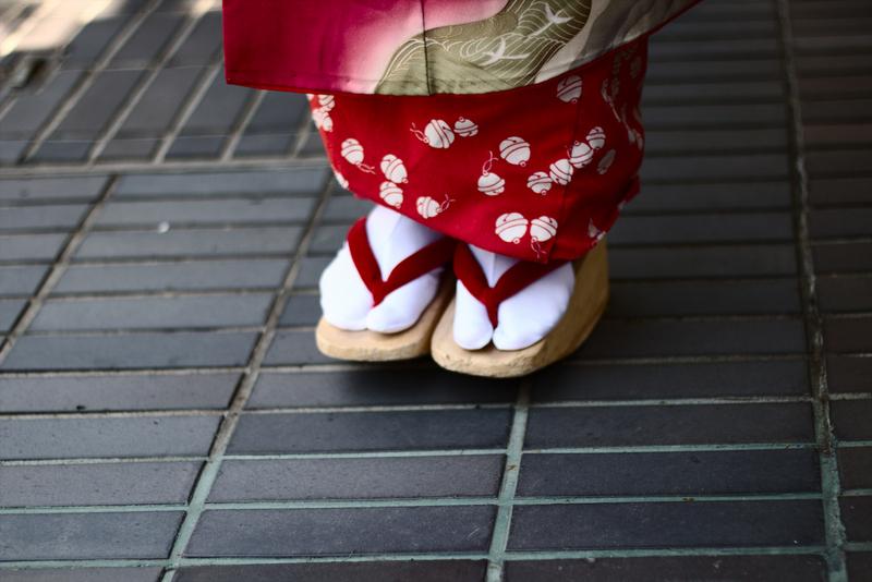 Lidia de maiko detalle del calzado