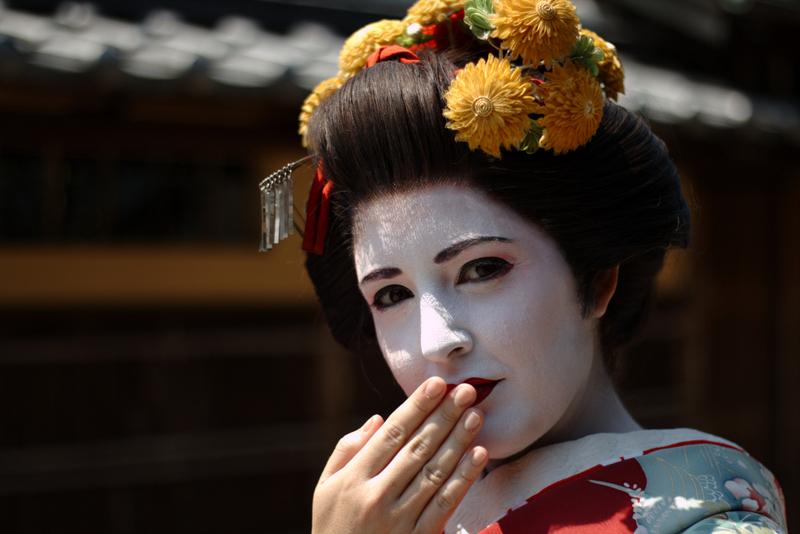Lidia de maiko primer plano
