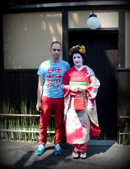 Sergio con Lidia maiko san