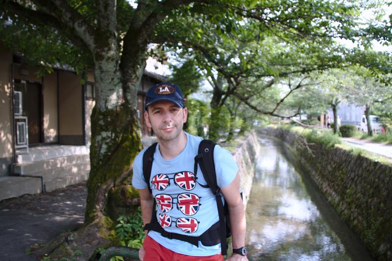 Sergio en el Camino de la Filosfia en Kioto