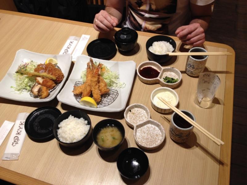comida en restaurante KYK de Kioto Station