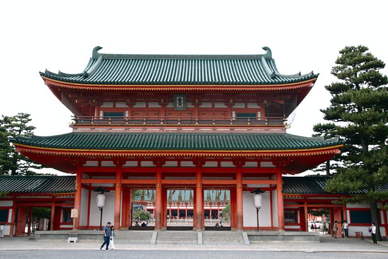 entrada al Santuario Heian de Kioto