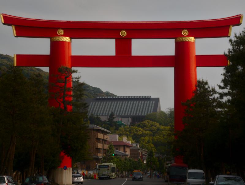 gran Tori del Santuario Heian en Kioto