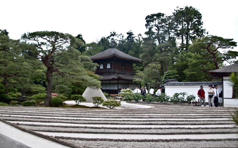 jardín de arena blanca en Ginkaku ji en Kioto