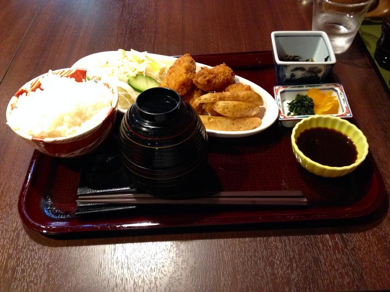 ostras gratinadas que cenamos en Miyajima