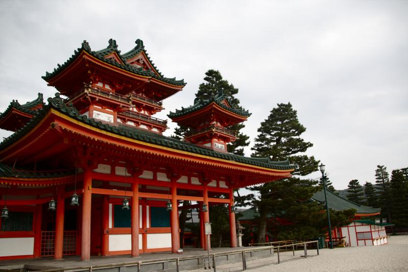 santuario Heian en Kioto interior