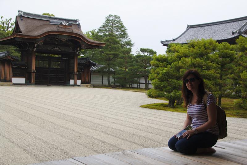 Lidia en uno de los jardines del Ninna-ji en Kioto