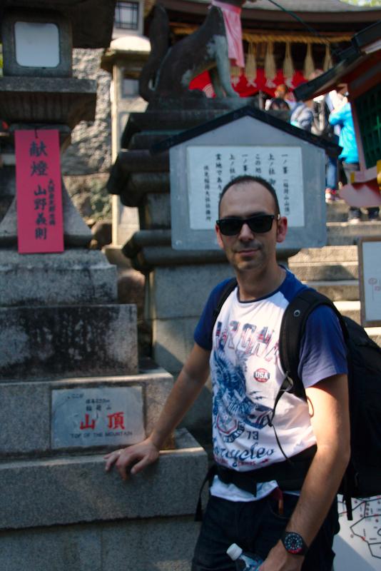 Sergio en la cima del Fushimi Inari en Kioto