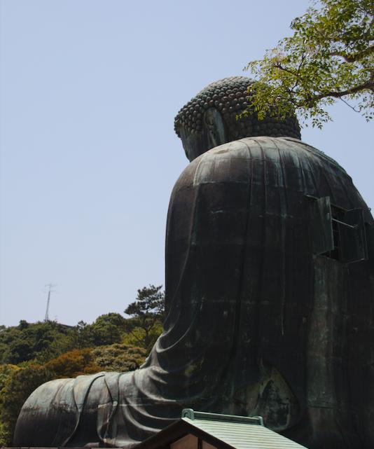 Daibutsu de Kamakura visto por detrás