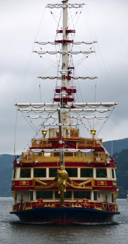 barco pirata en el lago Ashi de Hakone