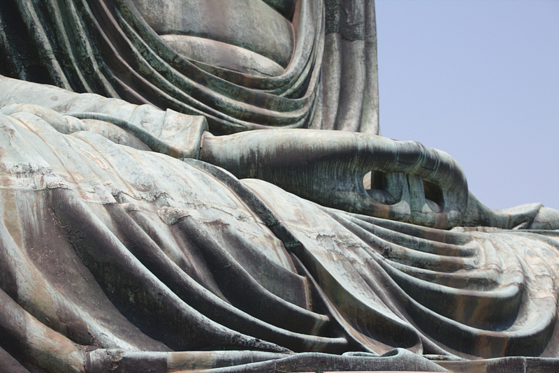 detalle de las manos del Daibutsu de Kamakura