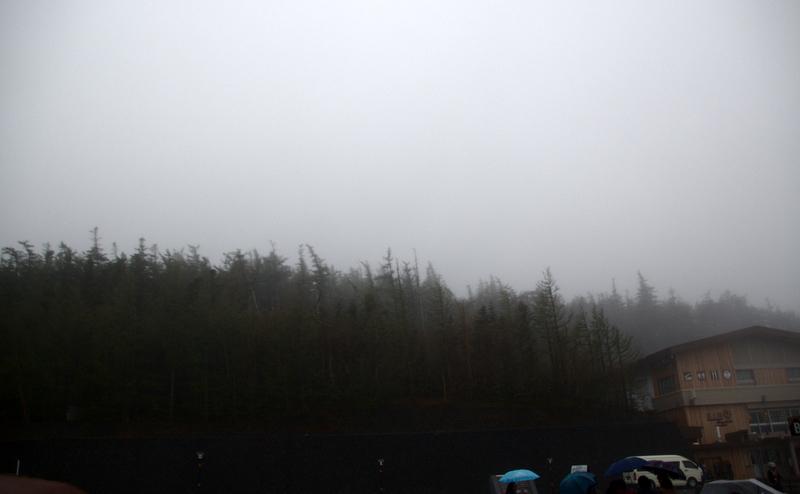 tiempo nublado en el Fuji