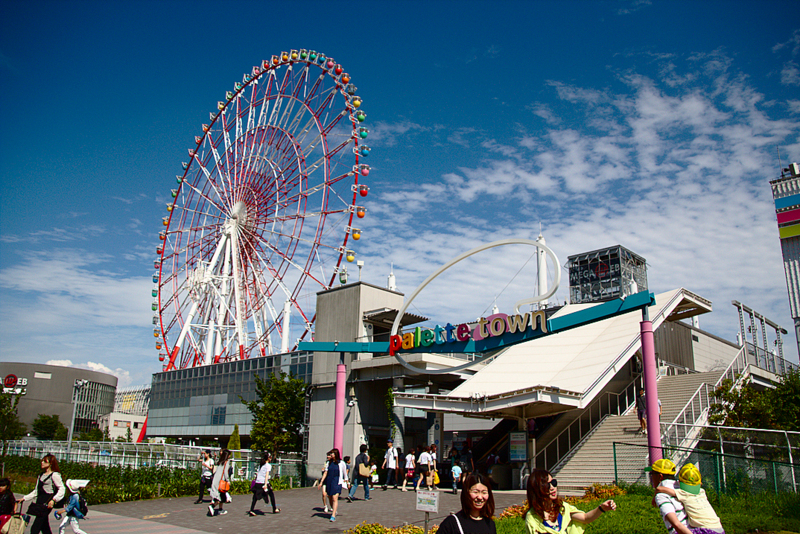 complejo comercial Palette Town en Odaiba