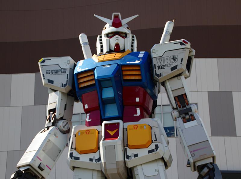 robot Gundam del Divercity Tokyo Plaza en Odaiba