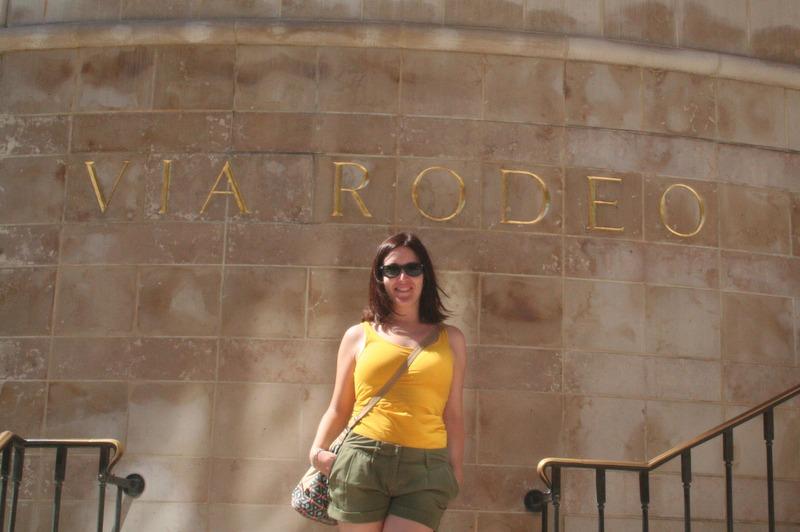 Lidia en Via Rodeo en Los Angeles