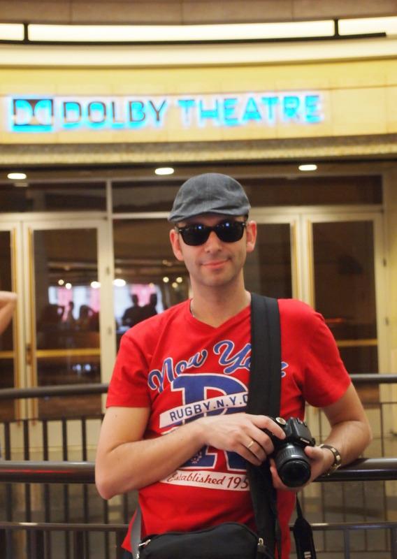 Sergio en el Dolby Theatre de Hollywood