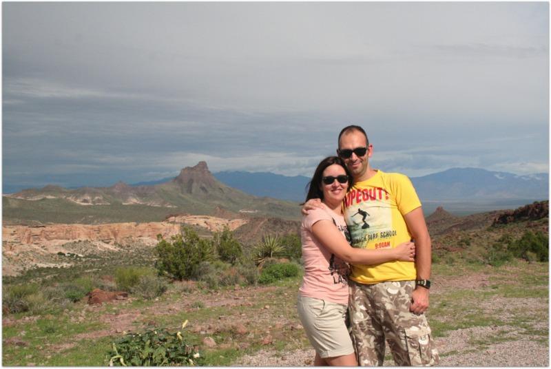 Sergio y Lidia en Arizona de camino a Las Vegas
