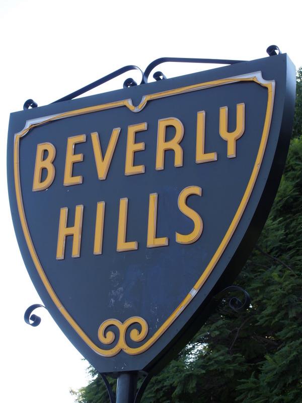 señal de Beverly Hills en Los Angeles