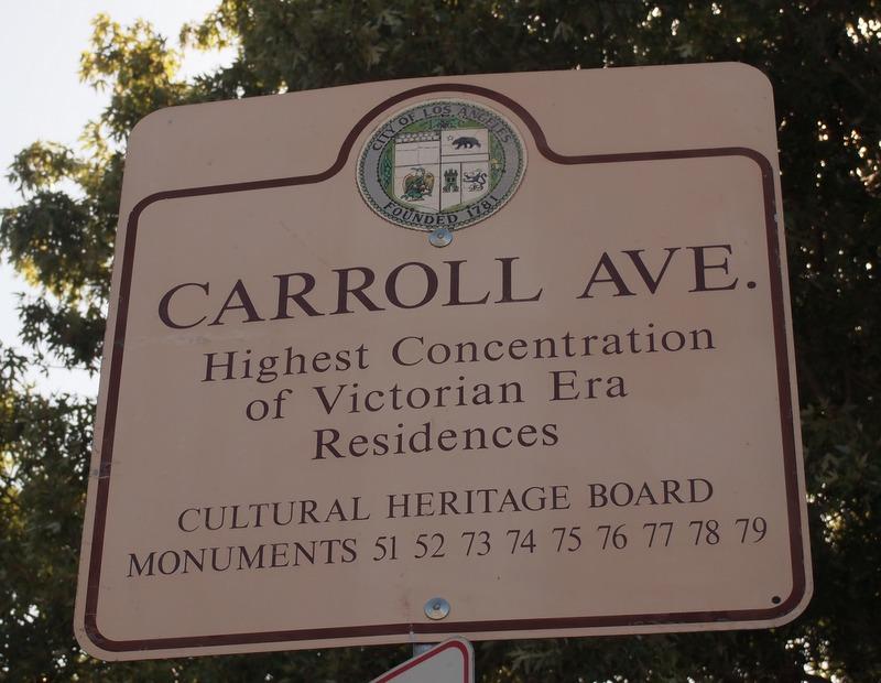 Cartel de Carrol Avenue en Los Angeles
