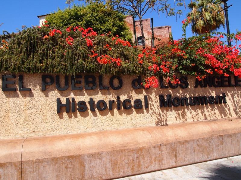 entrada a El Pueblo de Los Angeles