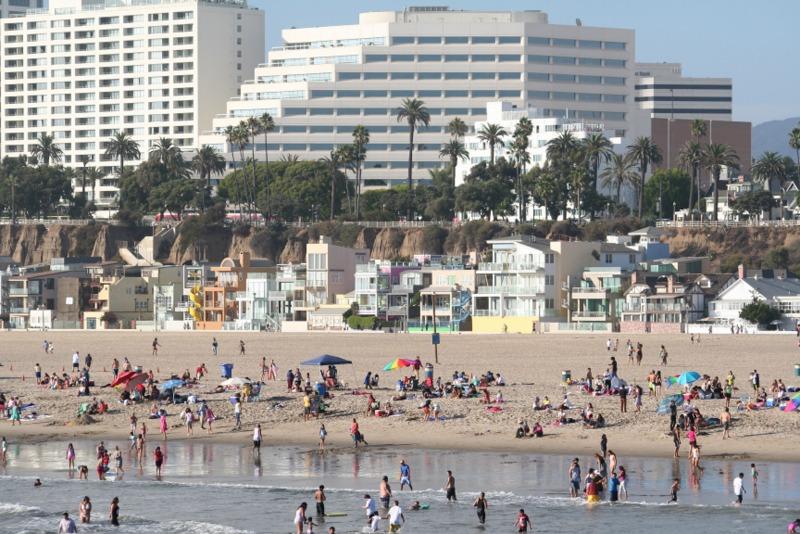casas en la playa de Santa Monica en Los Angeles
