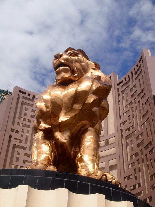 león del hotel MGM de Las Vegas