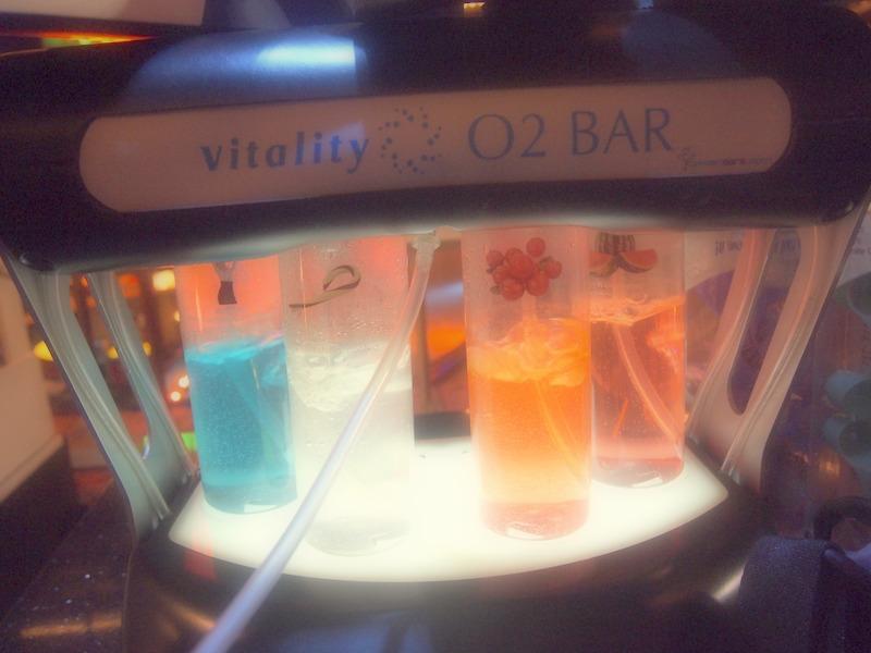 bar de oxígeno en el hotel Excalibur de Las Vegas